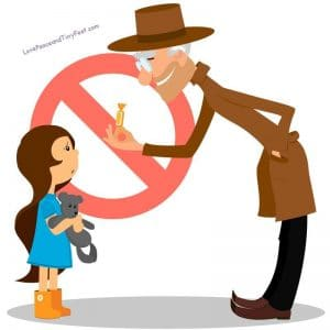 don't talk to strangers cartoon