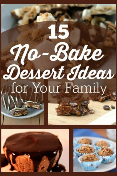 15 No-Bake Dessert Ideas for your Family