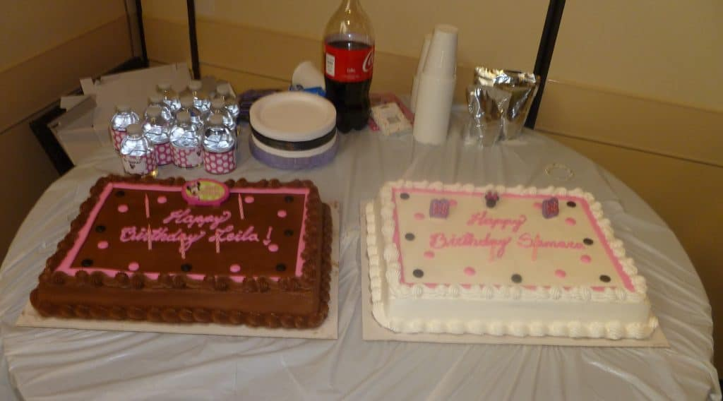 joint birthday party cake