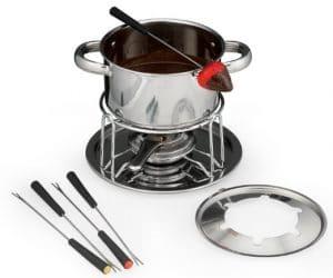 fondue pot with chocolate fondue