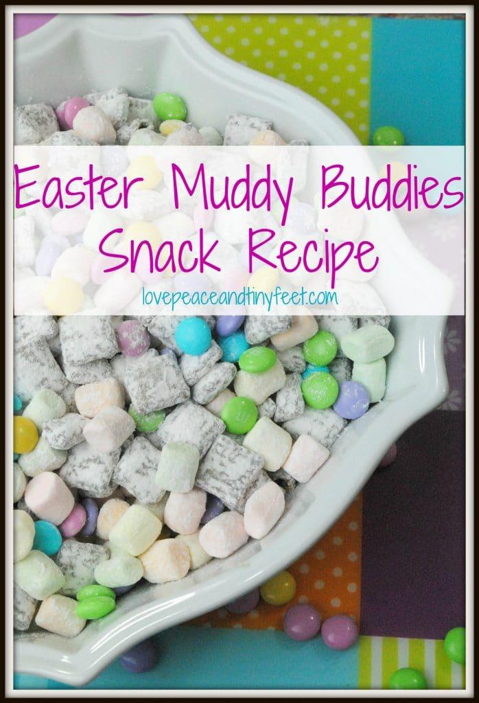 Easter muddy buddies snack recipe