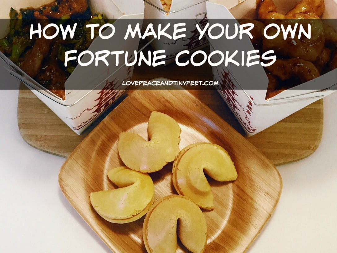 how to make your own fortune cookies from home