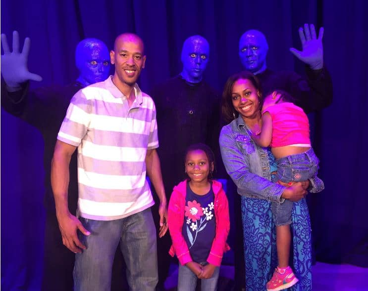 backstage with blue man group
