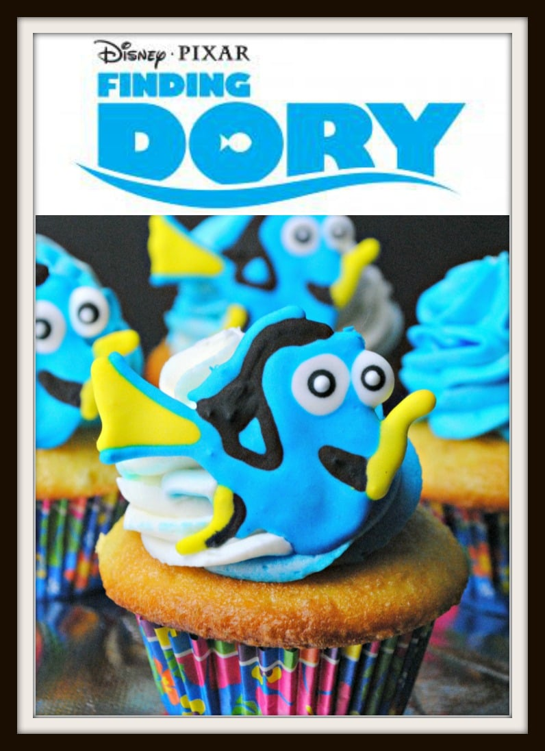 Finding Dory Cupcakes Recipe