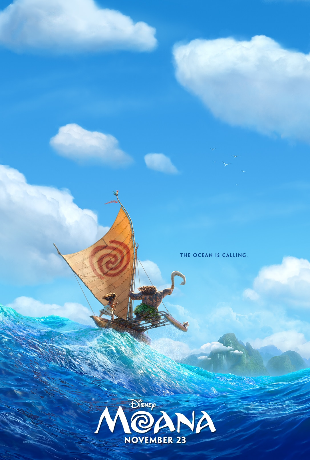 Disney's Moana in theaters Nov. 23rd