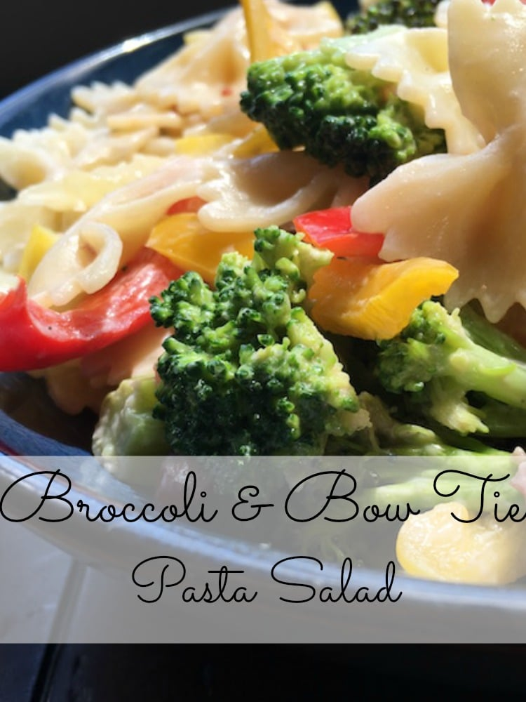 Broccoli and bow tie pasta salad