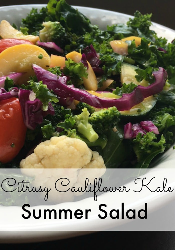 This Citrusy Cauliflower Kale Salad Recipe calls for the use of the salt block cooking technique which gives the lemon an even more crisp taste, making this delicious and refreshing summer salad.