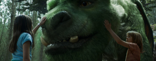 Oakes Fegley is Pete and Oona Laurence is Natalie in Disney's PETE'S DRAGON