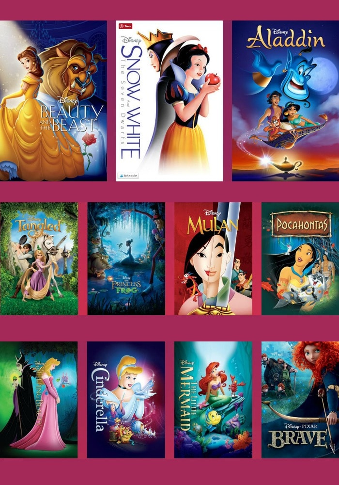 All disney princess movies