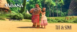 Moana characters - Chief Tui and Sina play Moana's parents