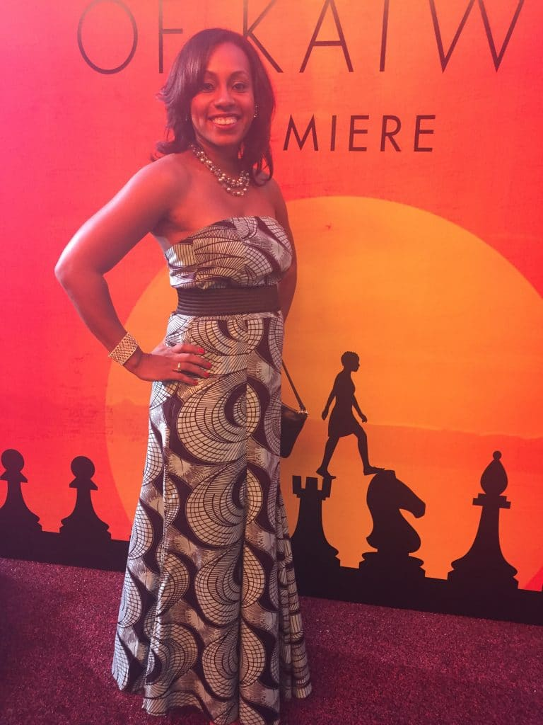 Blogger Ari Adams on the Red Carpet at the Queen Of Katwe Premiere