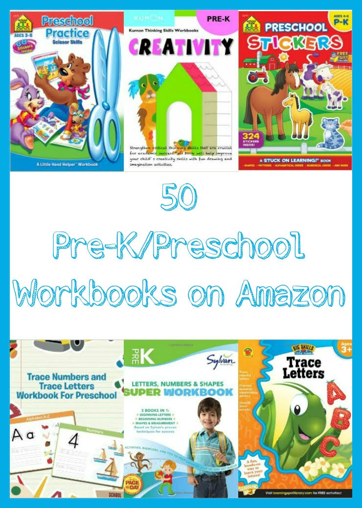 50 Common Core Pre-K & Preschool Workbooks on Amazon. Here are some great learning tools and resources for pre-k and preschool students. Great Guide for homeschoolers!