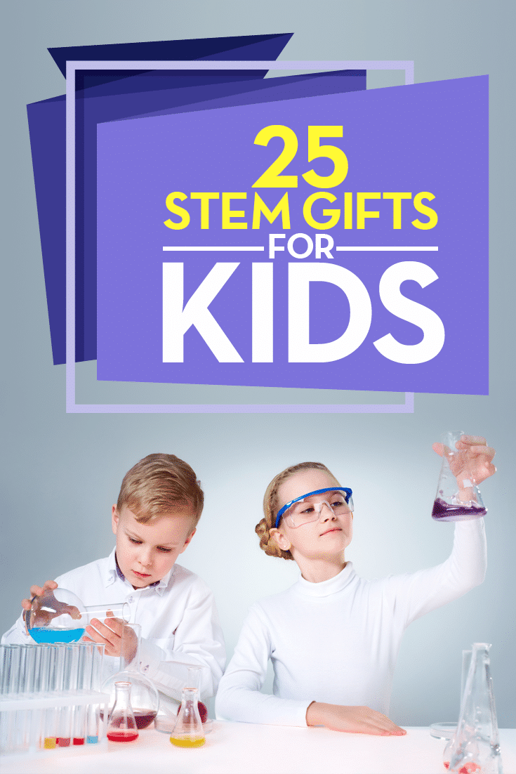STEM toys help to prepare children in the fields of Science, Technology, Engineering and Mathematics. If you're looking for an educational gift and science or STEM based gift, here are 25 STEM gifts to consider this holiday.