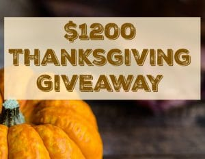 Thanksgiving Giveaway! 3 Winners – $400 Each! Enter to win!