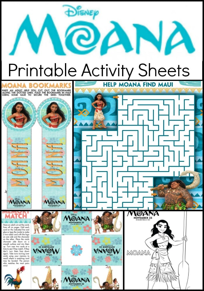 moana printable kids activity sheets and coloring pages - Free Kids Printable Activities