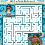 Moana Printable Kids Activity Sheets and Coloring Pages