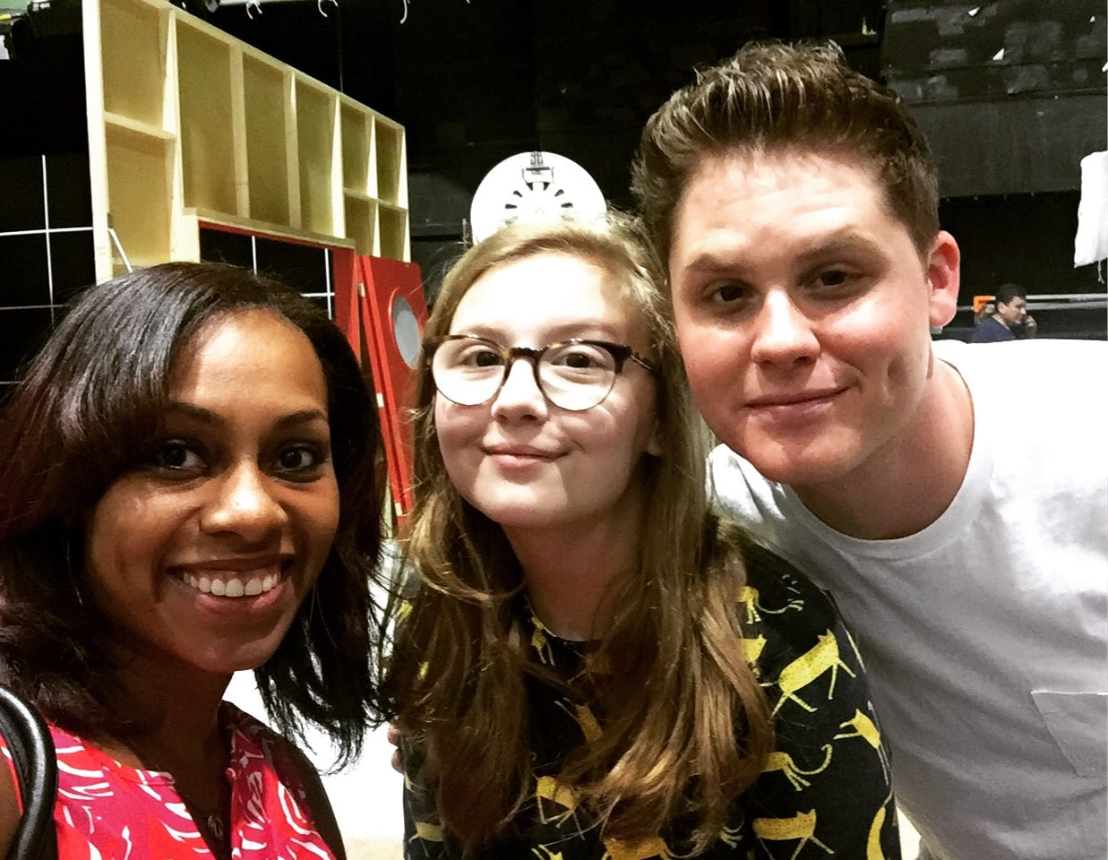 Ari Adams, Disney and ABC Blogger with Matt Shively and Bebe Wood of The Real O'Neals