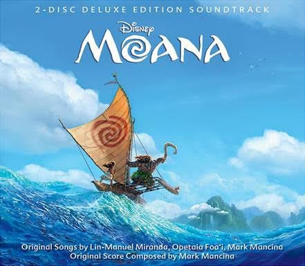 pre order moana official soundtrack with music by Lin Manuel Miranda