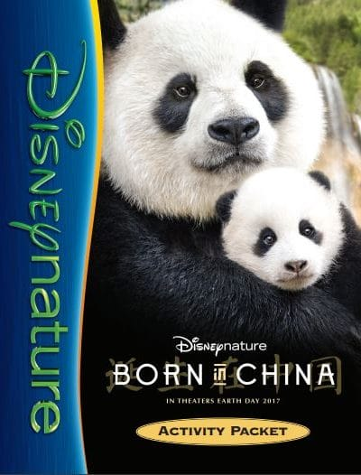 Free Kids Activity Packet from the upcoming DisneyNature Film Born in China