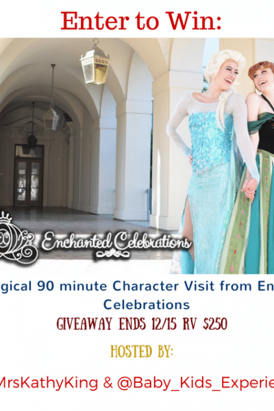 Southern California Readers: Enter to Win a Character Visit from Enchanted Celebrations