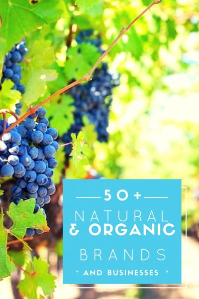 50+ Natural and Organic Brands and Businesses You Should Know About!