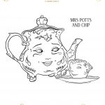 Mrs. Potts and Chip Coloring Sheet