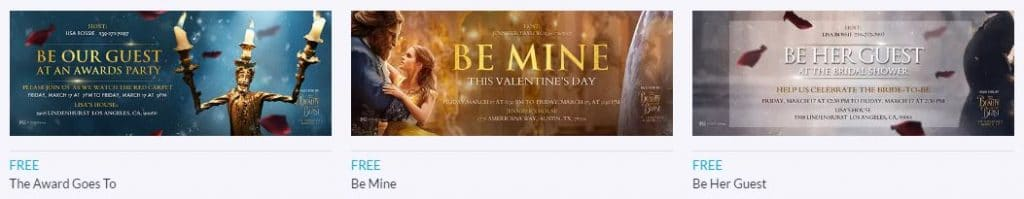 Beauty and the Beast Evite Invitations