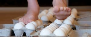 walk on eggshells science experiment
