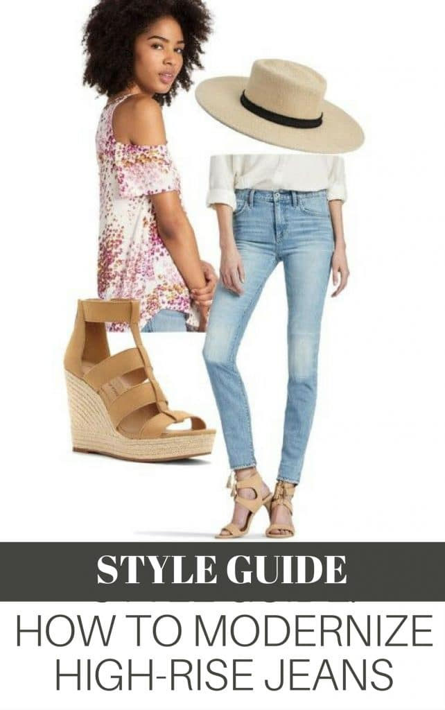 Style Guide How to find the best tops, accessories and shoes to wear with High-Waisted Jeans. Find out how to modernize this classic high rise jean style from the 70s and 80s and give it a fresh look for today.