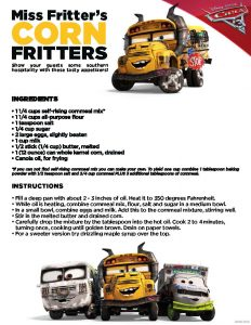 Corn Fritters Recipe from Cars 3