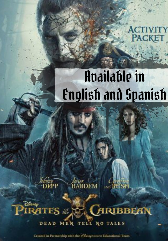 Here's a fun kids activity packet from the movie Pirates of the Caribbean Dead Men Tell No Tales. Available in English and Spanish.