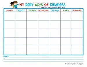 Random Acts of Kindness Printable Calendar