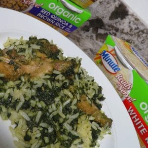 West African Rice Recipes – Liberian Potato Greens #MinuteLunch