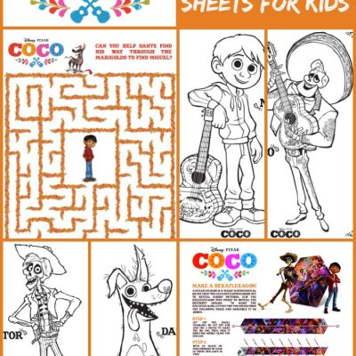 Disney's Coco Activity Sheets and Coloring Pages for Kids #PixarCoco