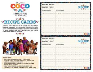 Printable Recipe Card for kids