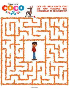 Coco Maze activity sheet
