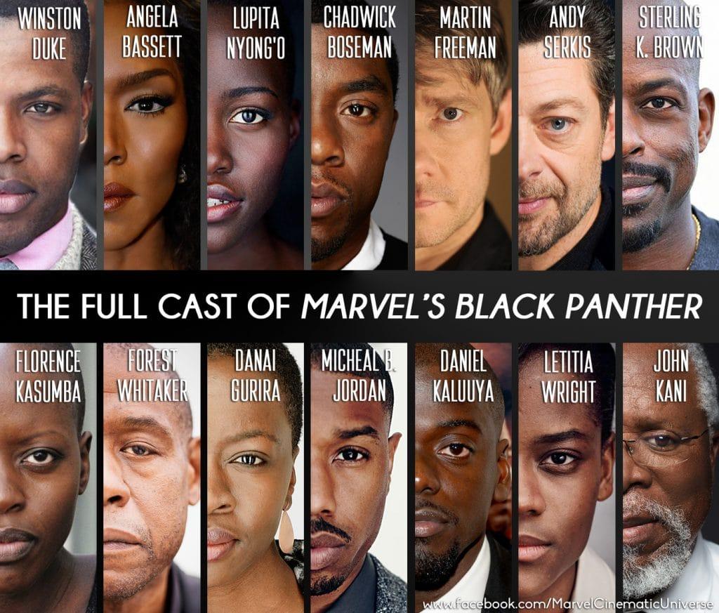 cast of marvel's black panther movie