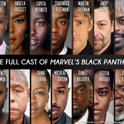 Cast of Marvel's Black Panther and Official Trailer! #BlackPanther