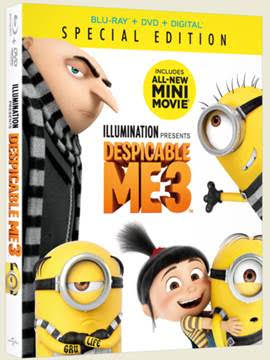 Enter to Win a Despicable Me 3 DVD Combo Pack! #DespicableMe3