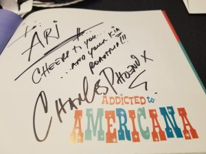 signed autograph from Charles Phoenix