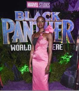 HOLLYWOOD, CA - JANUARY 29: Actor Danai Gurira at the Los Angeles World Premiere of Marvel Studios' BLACK PANTHER at Dolby Theatre on January 29, 2018 in Hollywood, California. (Photo by Alberto E. Rodriguez/Getty Images for Disney) *** Local Caption ***