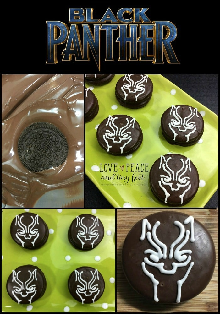 Are you a Black Panther fan? If you are, celebrate the showing of this thrilling movie that's set to be released on February 16, 2018 by making these Black Panther Oreo cookies! They're so easy and so much fun to make. Check them out! #blackpanther #blackpanthermovie #cookies #blackpanthercookies