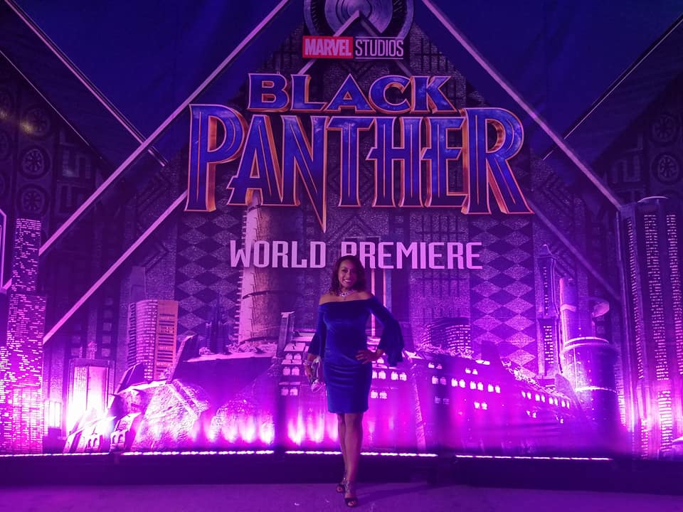 Ari Adams and disney bloggers at the Black Panther Premiere
