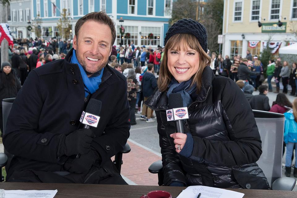 Chris Harrison and Sportscaster Hannah Storm