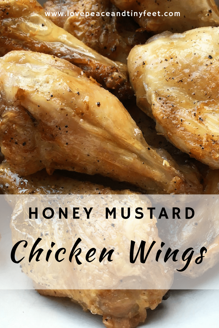 Honey Mustard Chicken Wings is such a perfect choice for any casual occasions. The honey-mustard sauce used in this version is delicious and it pairs beautifully with potato salad or other picnic-worthy side dishes.