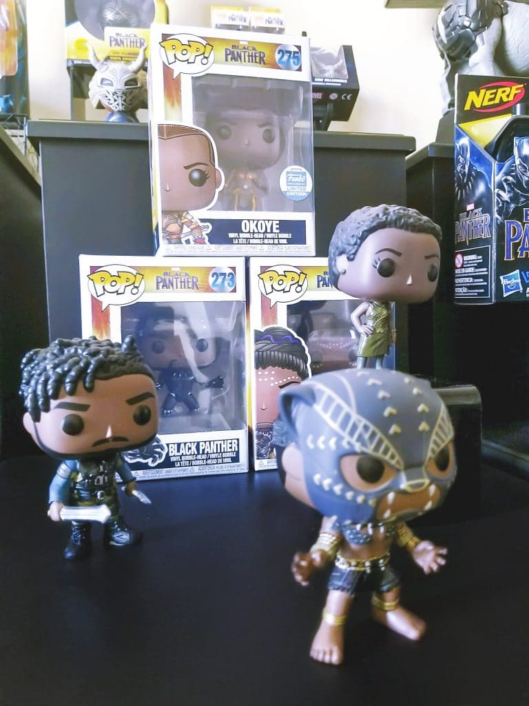 Funko Pop Black Panther toys with every character