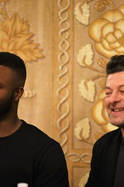 """Black Panther's Winston Duke and Andy Serkis make us question, """"What kind of world are we creating for ourselves?"""" #BlackPantherEvent"""