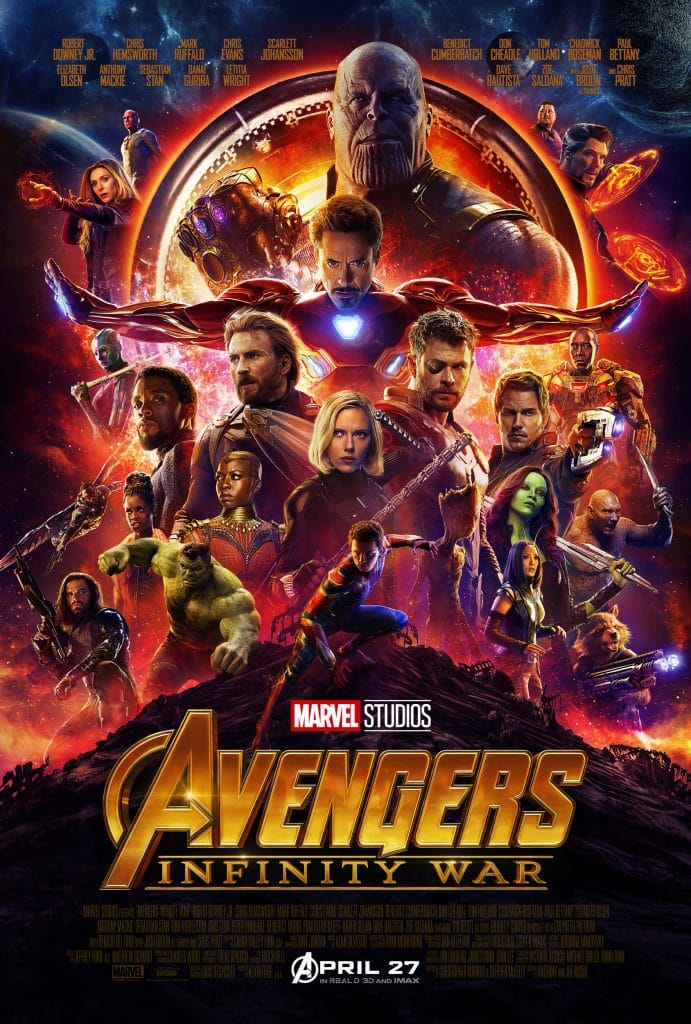 official poster for marvel infinity war