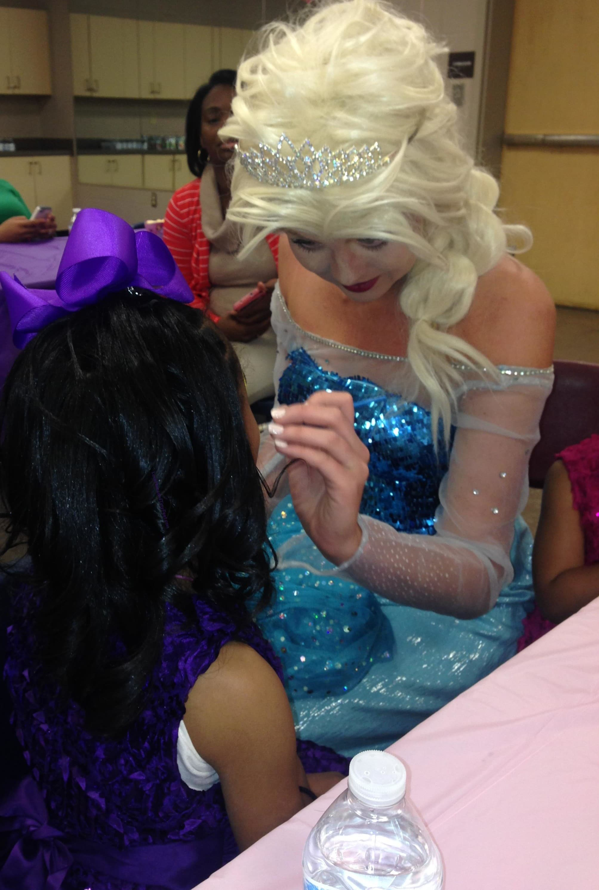 Princess Elsa at birthday party