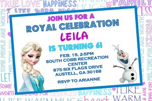 Elsa Frozen birthday invitation